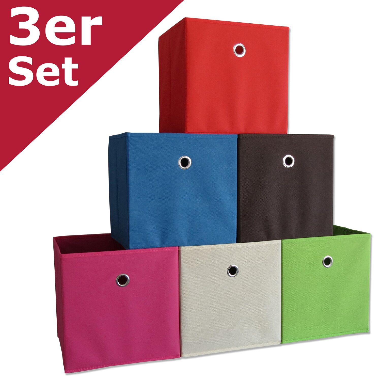 vcm stoffbox boxas blau mit deckel 3 st ck kaufen bei obi. Black Bedroom Furniture Sets. Home Design Ideas
