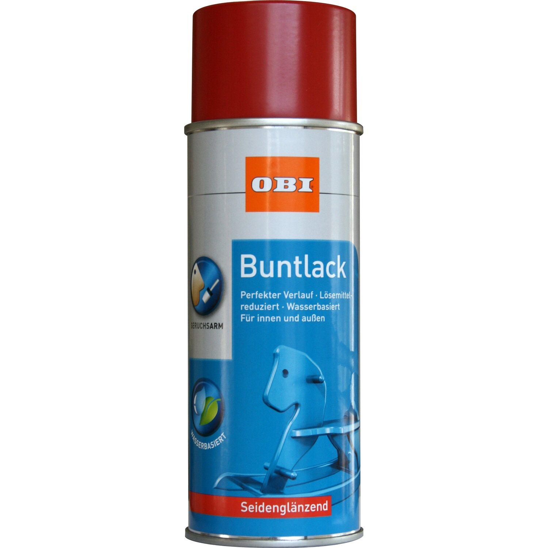 OBI  Buntlack Spray Feuerrot seidenglänzend wv 400 ml