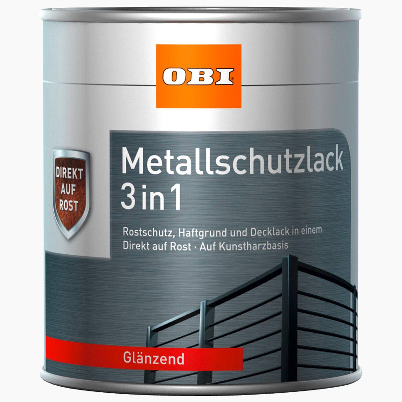 OBI  Metallschutzlack 3in1 Blau glänzend 375 ml