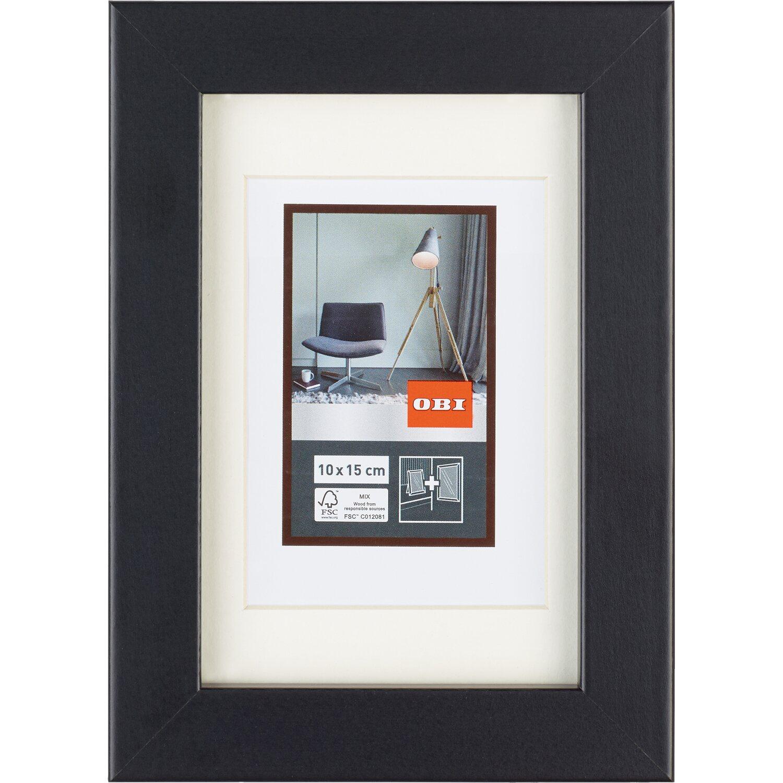 obi mdf bilderrahmen schwarz 10 cm x 15 cm kaufen bei obi. Black Bedroom Furniture Sets. Home Design Ideas