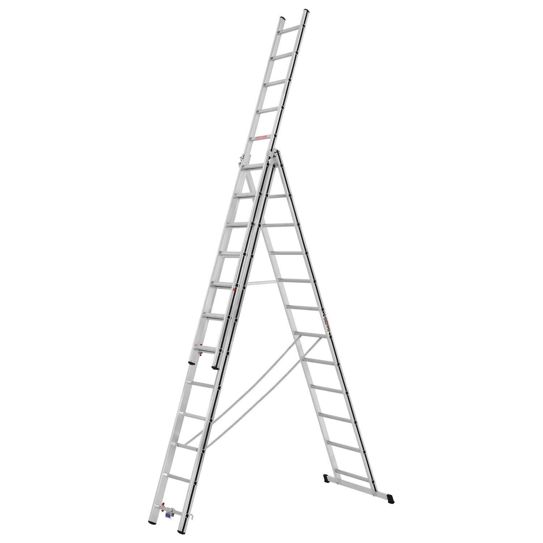 Hymer  Allzweck-Leiter 3 x 12 Sprossen Arbeitshöhe 8,15 m