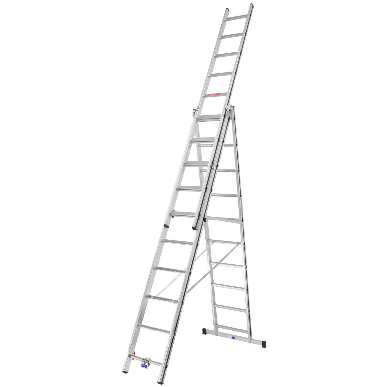 Hymer  Allzweck-Leiter 3 x 10 Sprossen Arbeitshöhe 6,81 m
