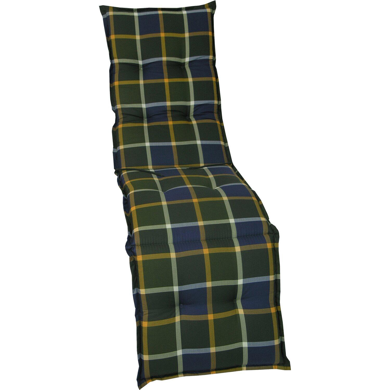 relax auflage langeoog gr n blau kariert kaufen bei obi. Black Bedroom Furniture Sets. Home Design Ideas
