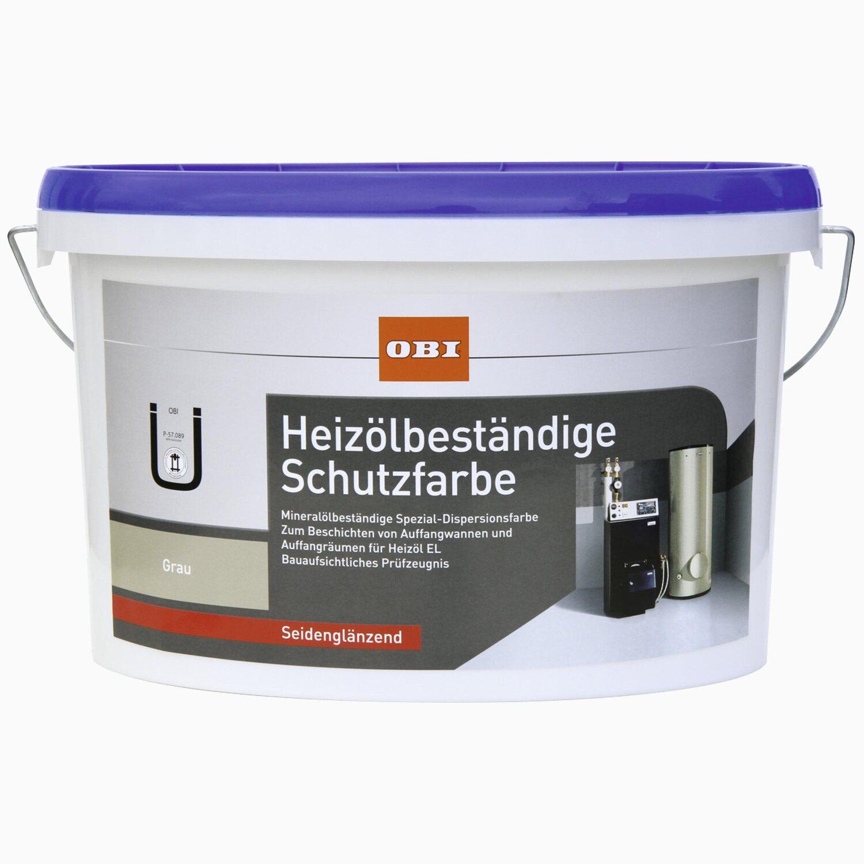 OBI  Heizölbeständige Schutzfarbe Grau seidenglänzend 2,5 l