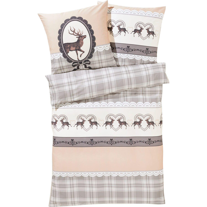 best of home bettw sche hirsch 135 cm x 200 cm beige grau kaufen bei obi. Black Bedroom Furniture Sets. Home Design Ideas