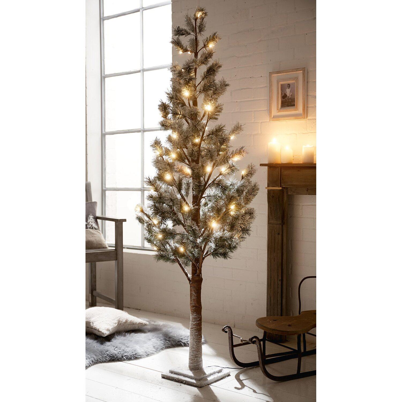 k nstlicher weihnachtsbaum 160 cm beschneit 55 warmwei e leds kaufen bei obi. Black Bedroom Furniture Sets. Home Design Ideas