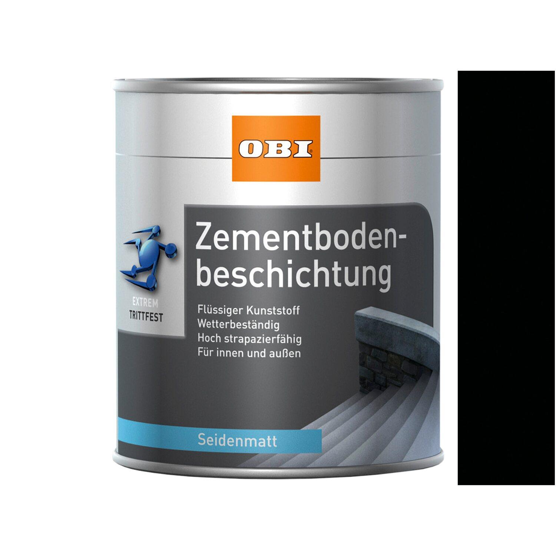 OBI  Zementbodenbeschichtung Tiefschwarz seidenmatt 750 ml