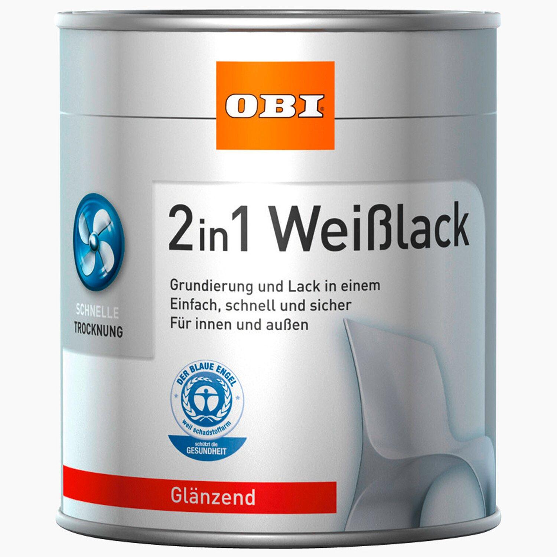 OBI  2in1 Weißlack Weiß glänzend 2,5 l