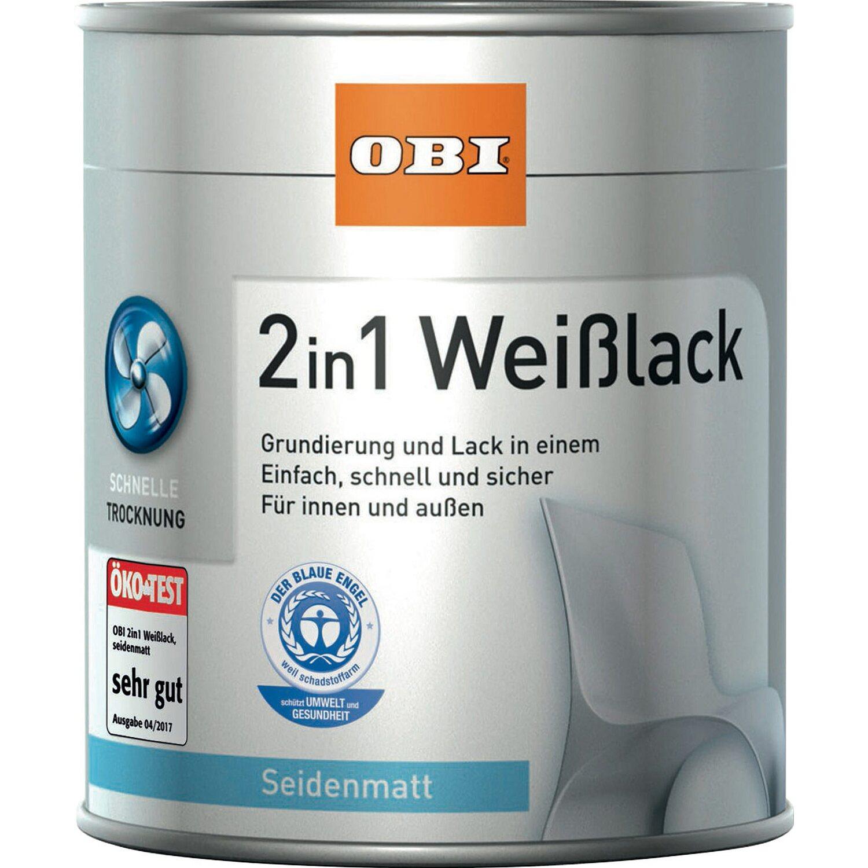 OBI  2in1 Weißlack Weiß seidenmatt 750 ml