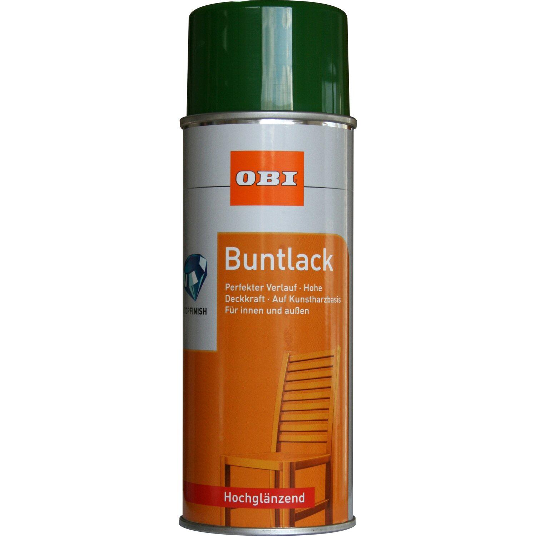 OBI  Buntlack Spray Laubgrün hochglänzend 400 ml