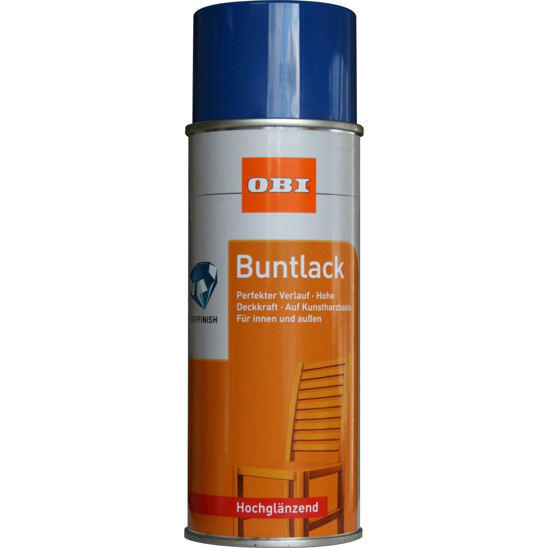 OBI  Buntlack Spray Enzianblau hochglänzend 400 ml