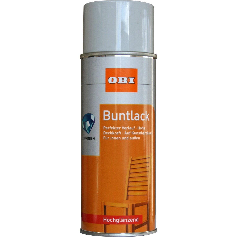OBI  Buntlack Spray Lichtgrau hochglänzend 400 ml