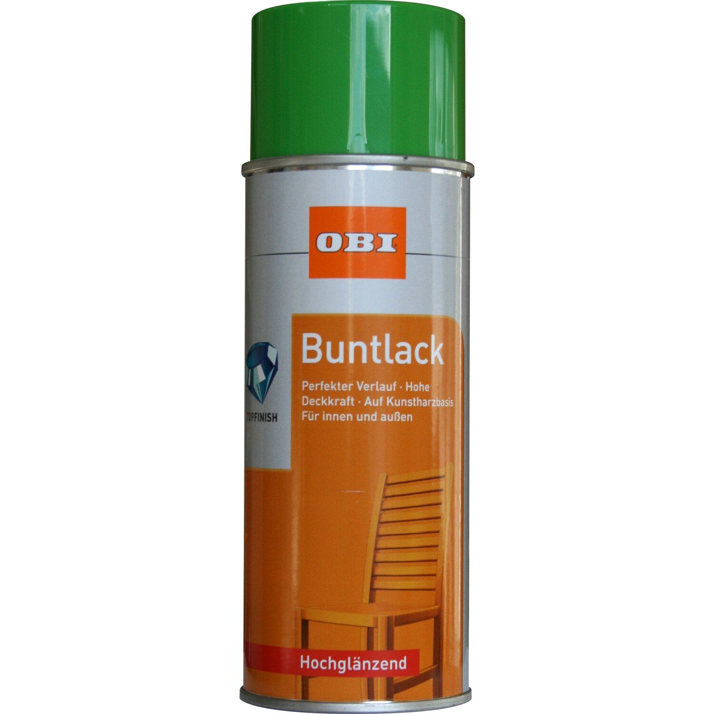 OBI  Buntlack Spray Gelbgrün hochglänzend 400 ml
