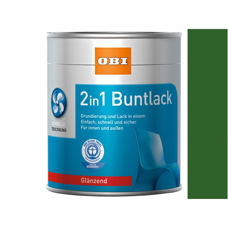 OBI  2in1 Buntlack Laubgrün glänzend 750 ml
