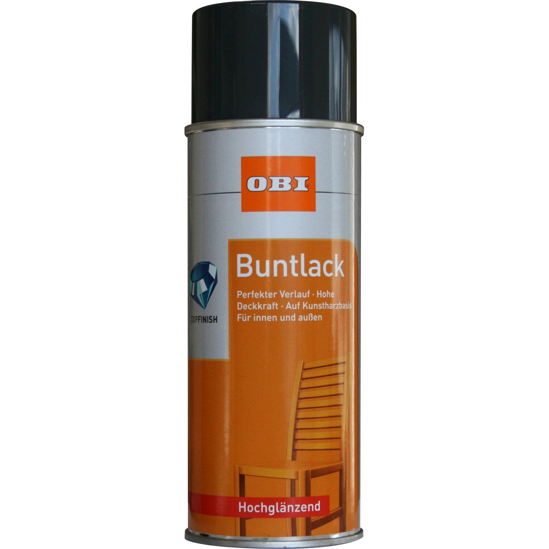 OBI  Buntlack Spray Anthrazit hochglänzend 400 ml