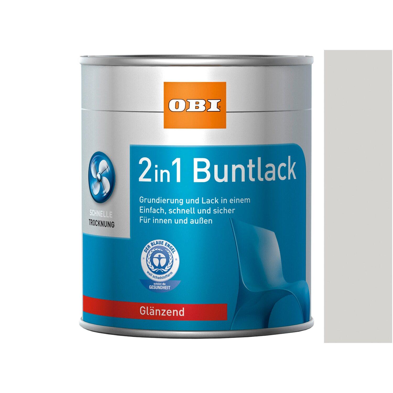 OBI  2in1 Buntlack Grauweiß glänzend 750 ml