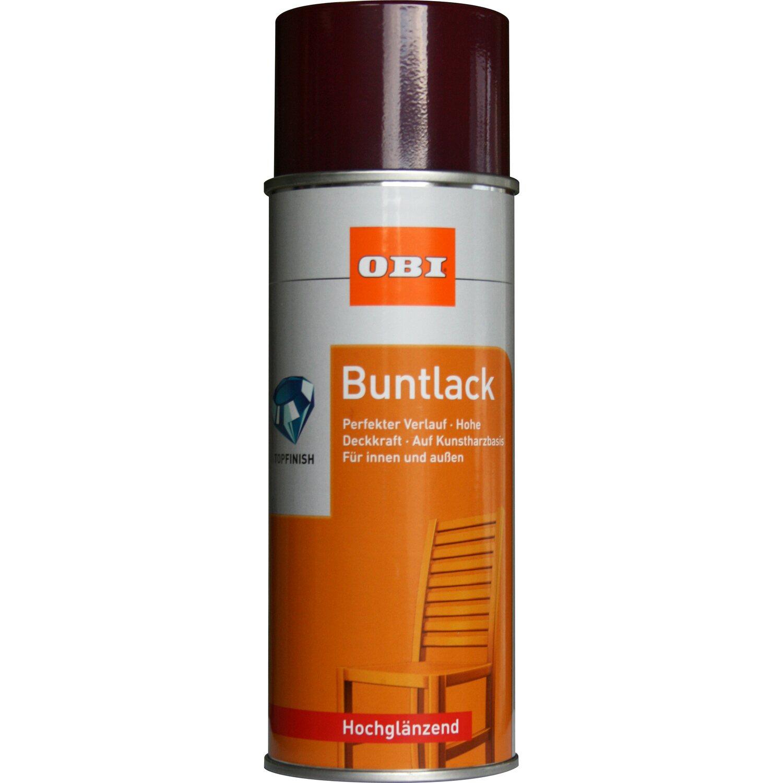 OBI  Buntlack Spray Bordeauxrot hochglänzend 400 ml