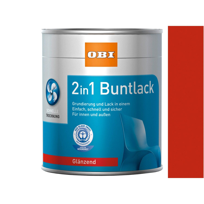 OBI  2in1 Buntlack Feuerrot glänzend 375 ml