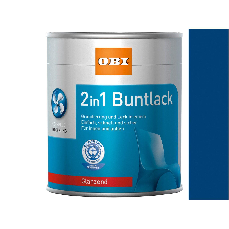 OBI  2in1 Buntlack Enzianblau glänzend 375 ml