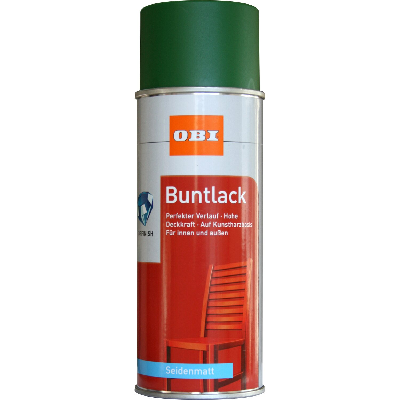 OBI  Buntlack Spray Laubgrün seidenmatt 400 ml