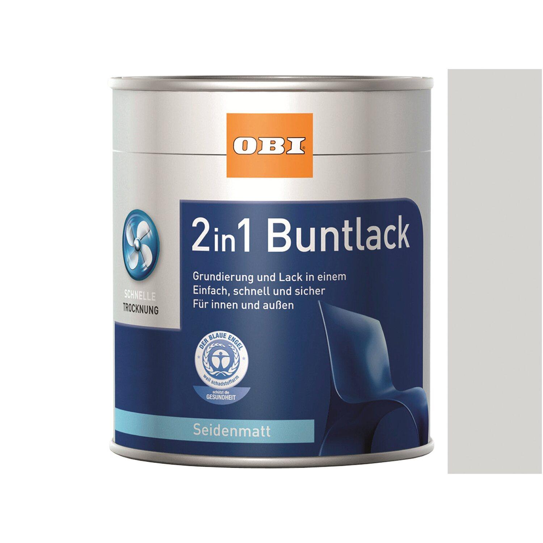 OBI  2in1 Buntlack Grauweiß seidenmatt 375 ml