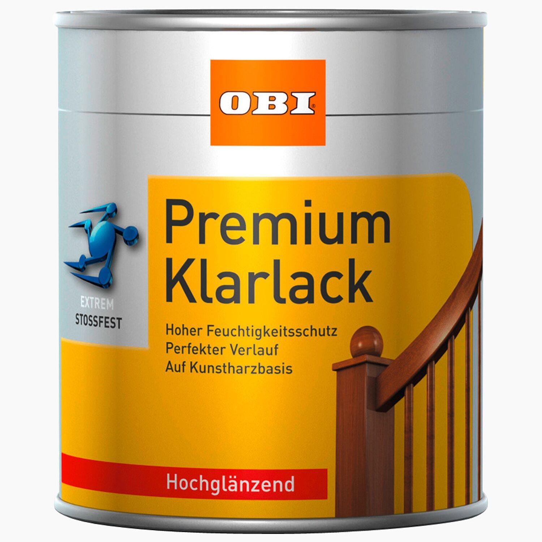OBI Premium Klarlack Transparent hochglänzend 375 ml