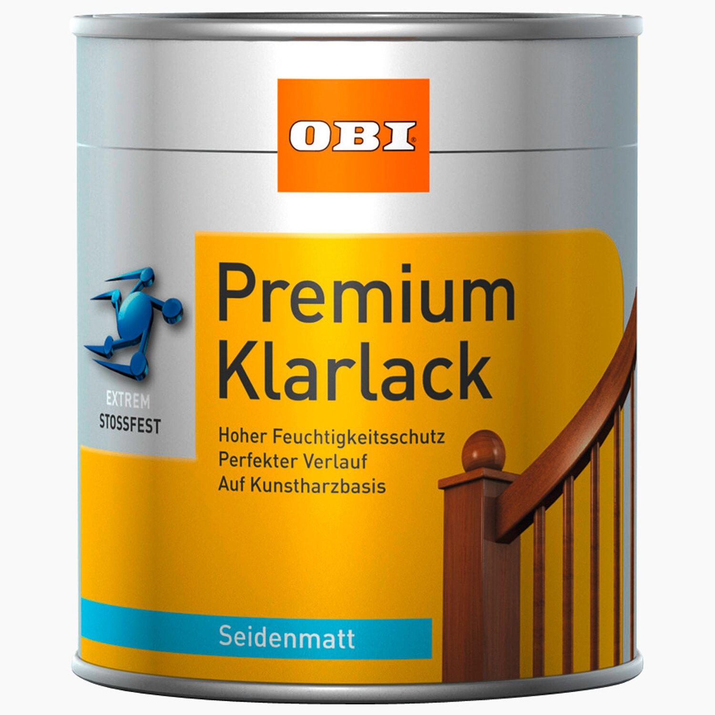 OBI Premium Klarlack Transparent seidenmatt 375 ml