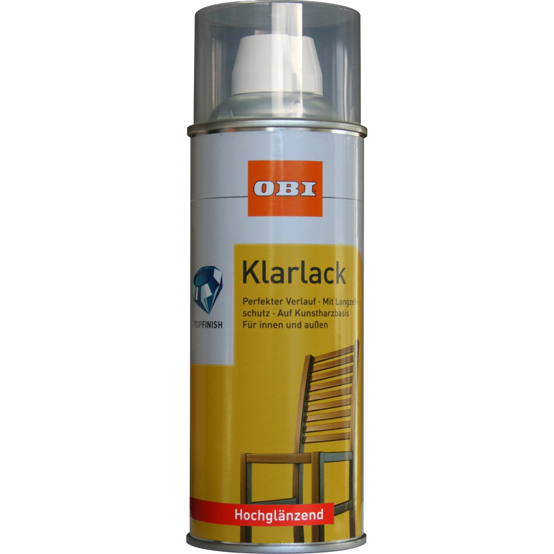 OBI Klarlack Spray Transparent hochglänzend 400 ml