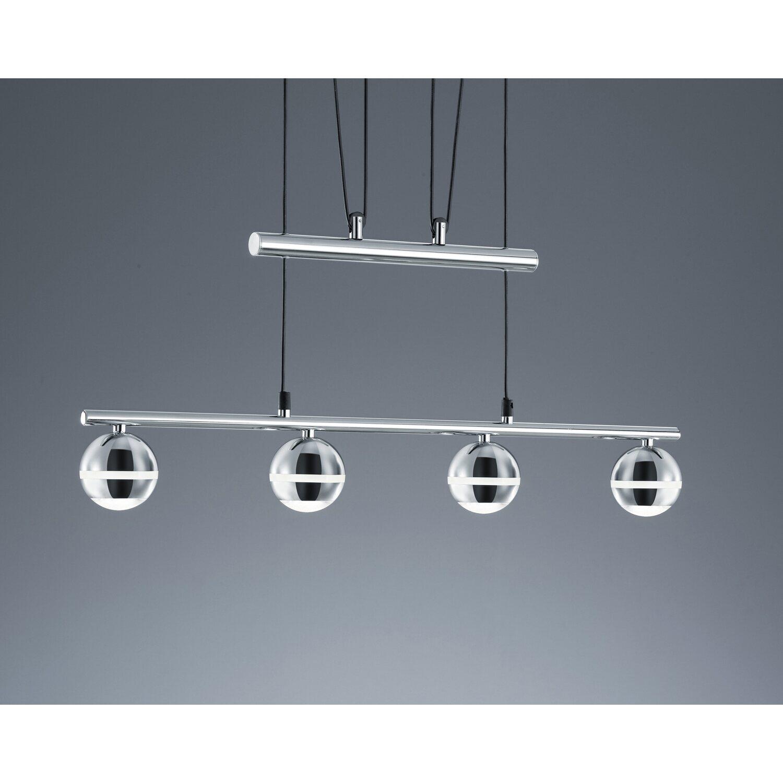 Trio Leuchten LED JoJo Pendelleuchte in Nickel inklusiv 4x