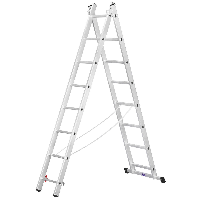 Alpe  Allzweck-Leiter 2 x 11 Sprossen Arbeitshöhe 5,85 m