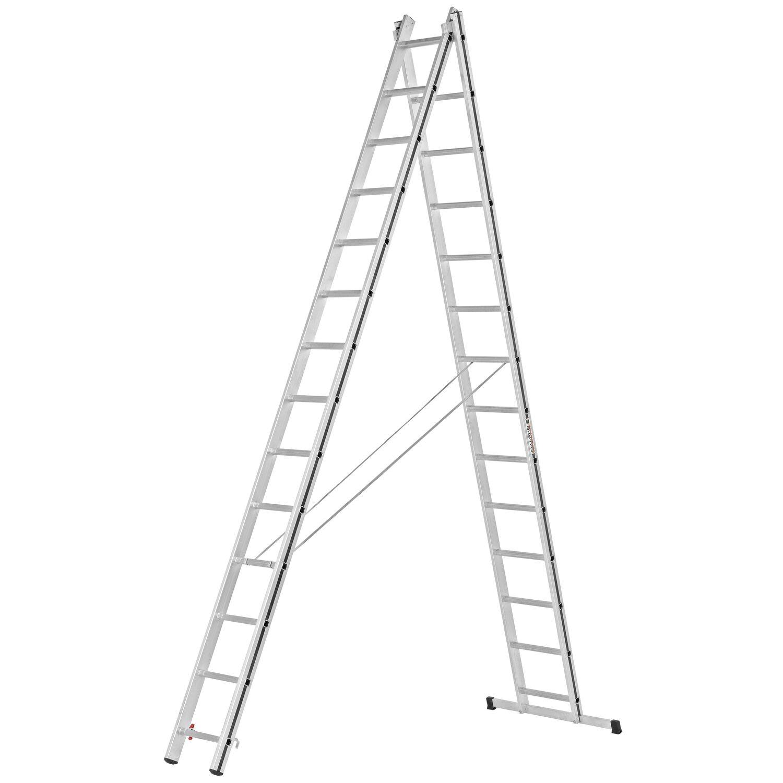 Hymer  Allzweck-Leiter 2 x 14 Sprossen Arbeitshöhe 7,06 m