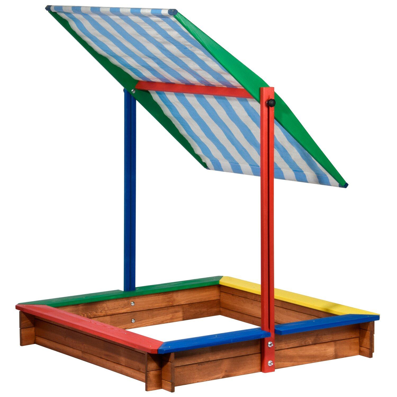 sandkasten mit sonnenschutz 120 cm x 120 cm kaufen bei obi. Black Bedroom Furniture Sets. Home Design Ideas