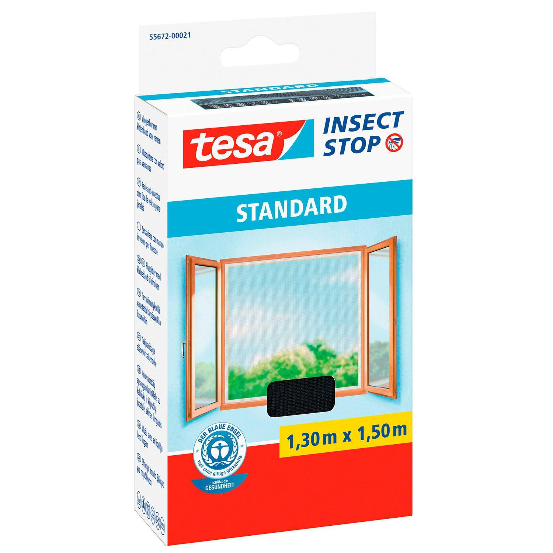 Tesa Insect Stop Fliegengitter Standard Mit Klettband 150 Cm X 130
