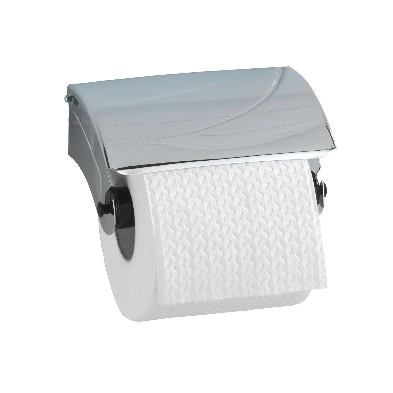 wenko toilettenpapierhalter basic mit deckel edelstahl inkl befestigung kaufen bei obi. Black Bedroom Furniture Sets. Home Design Ideas
