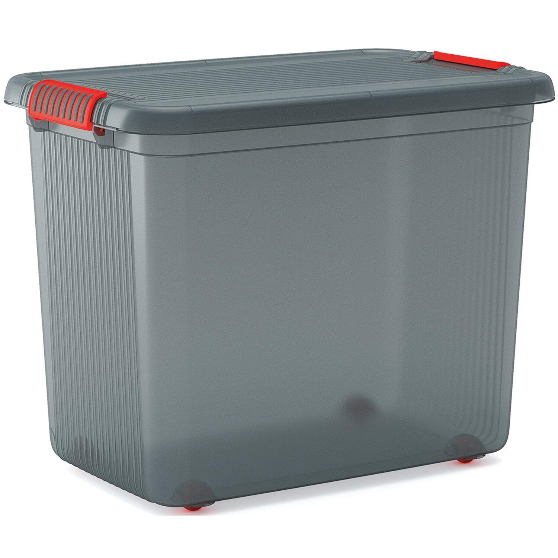 clipbox mit deckel xxl rauchgrau 69 l kaufen bei obi. Black Bedroom Furniture Sets. Home Design Ideas