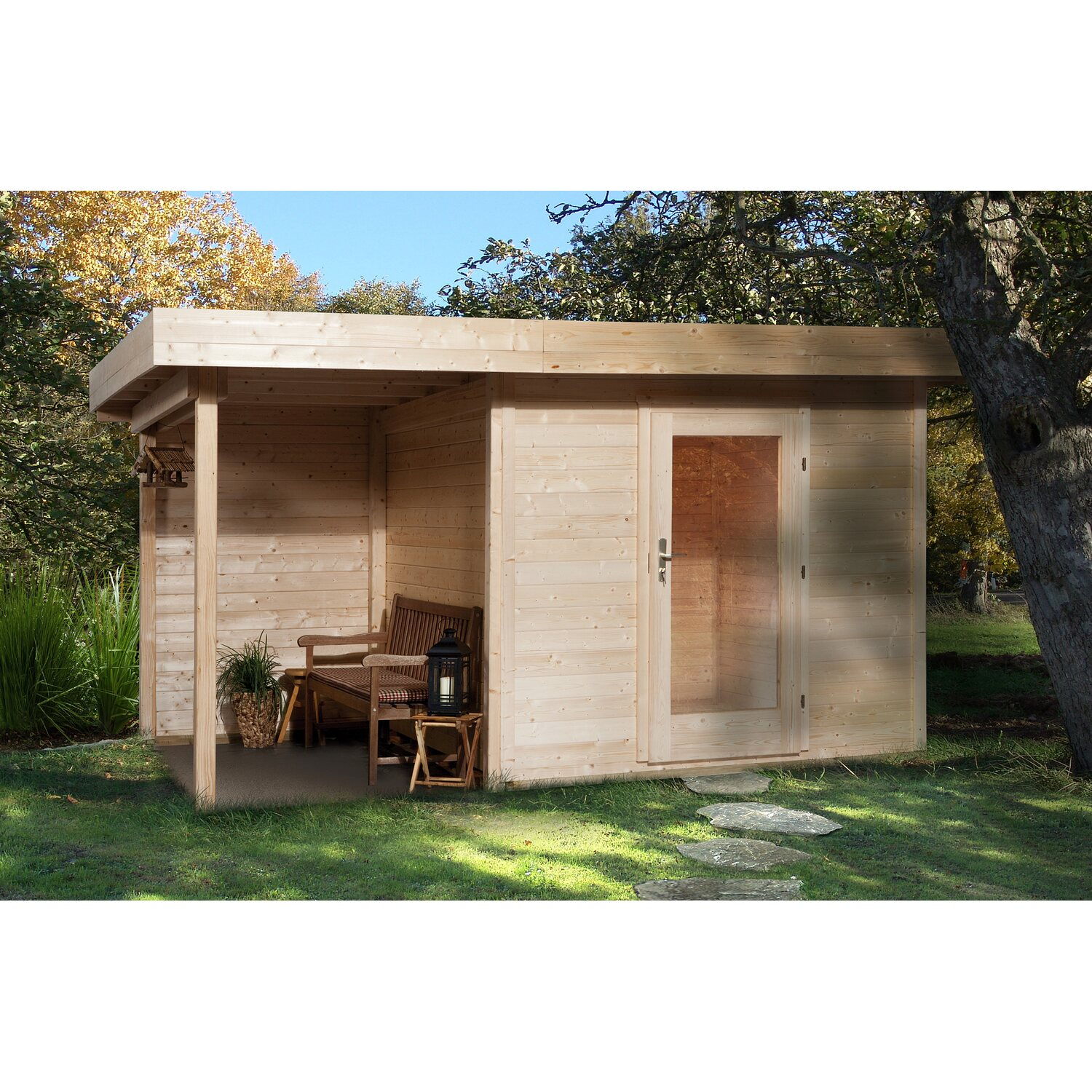 obi holz gartenhaus florenz a gr e 2 natur bxt 385 x 210. Black Bedroom Furniture Sets. Home Design Ideas