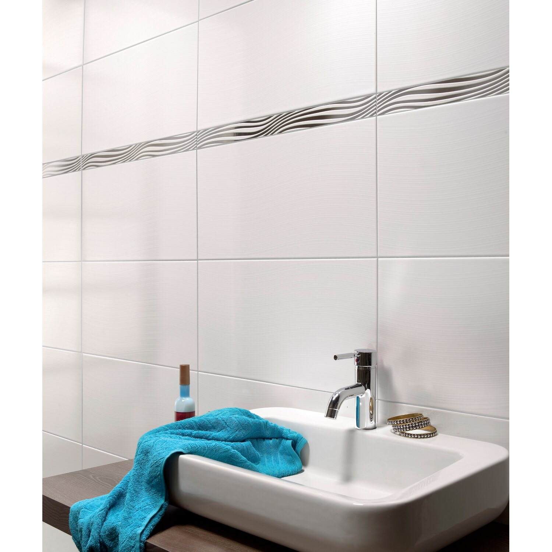 wandfliese silva wei gl nzend 30 cm x 60 cm kaufen bei obi. Black Bedroom Furniture Sets. Home Design Ideas