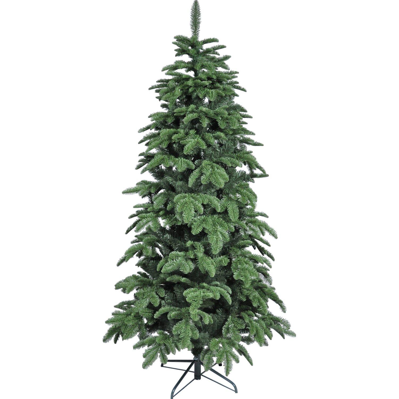 Künstliche Nordmanntanne Weihnachtsbaum.Takasho Künstlicher Weihnachtsbaum Nordmanntanne Slim 210 Cm