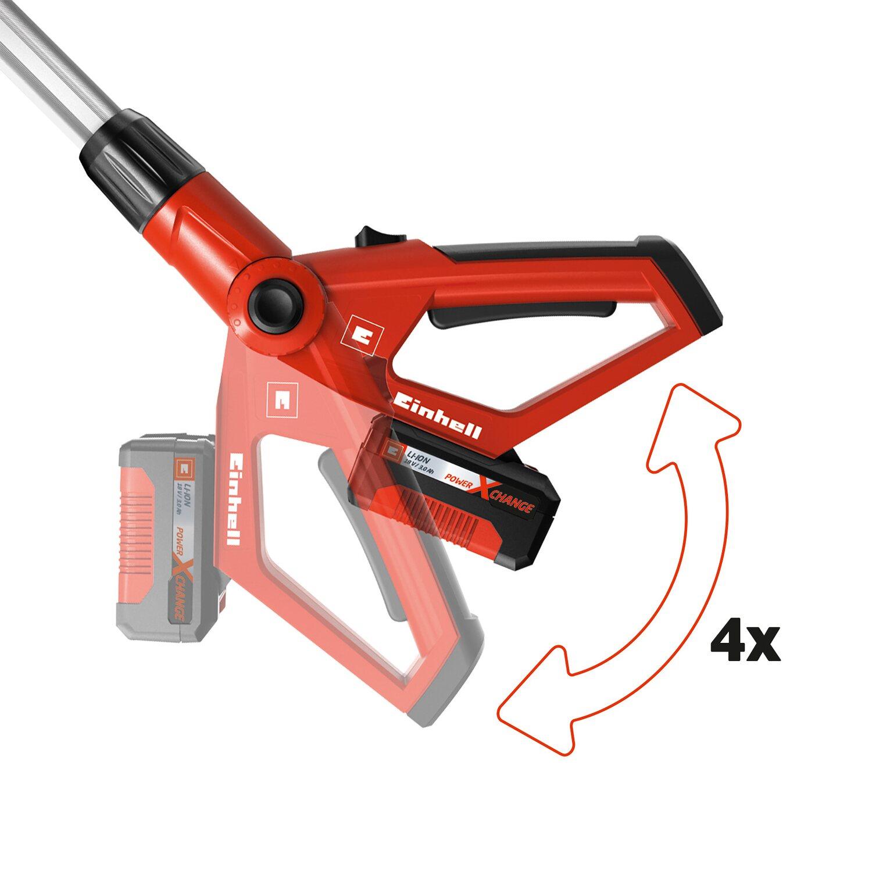 Einhell Akku Hochentaster und Heckenschere GE-HC 18 Li T Set Power X-Change 18V