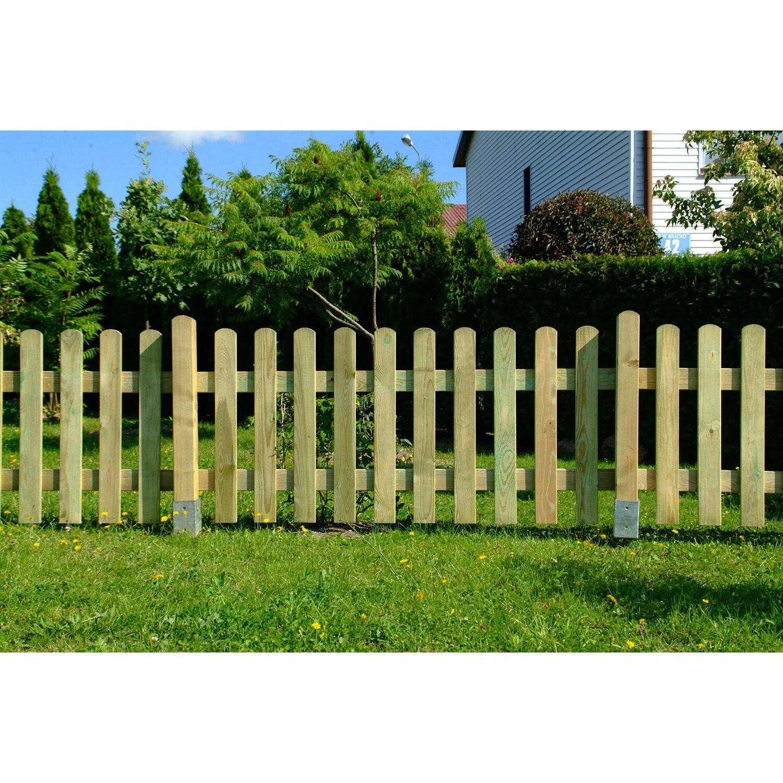 staketenzaun gerade druckimprägniert 180 cm x 80 cm grün kaufen bei obi