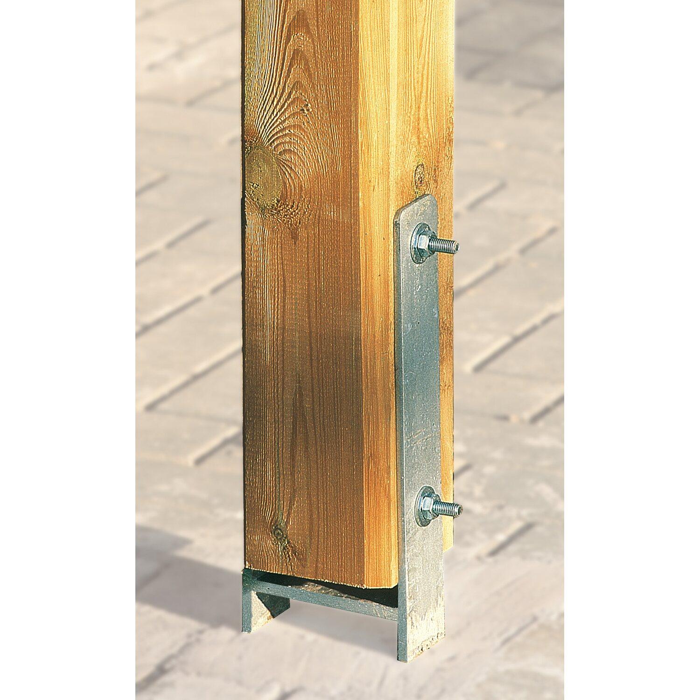 weka h anker set f r pfosten 9 cm x 9 cm kaufen bei obi. Black Bedroom Furniture Sets. Home Design Ideas