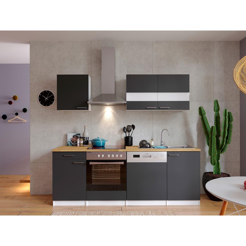 respekta k chenzeile kb220wgc 220 cm grau wei kaufen bei obi. Black Bedroom Furniture Sets. Home Design Ideas