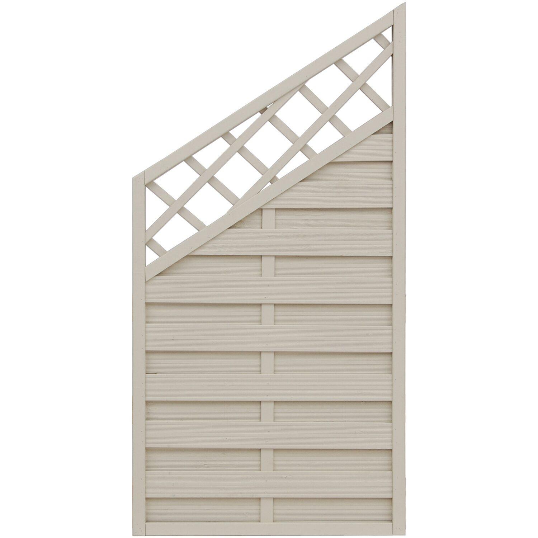 Sonstige Sichtschutzzaun Anschlusselement Country Cream 180 x 120 cm auf 90 cm