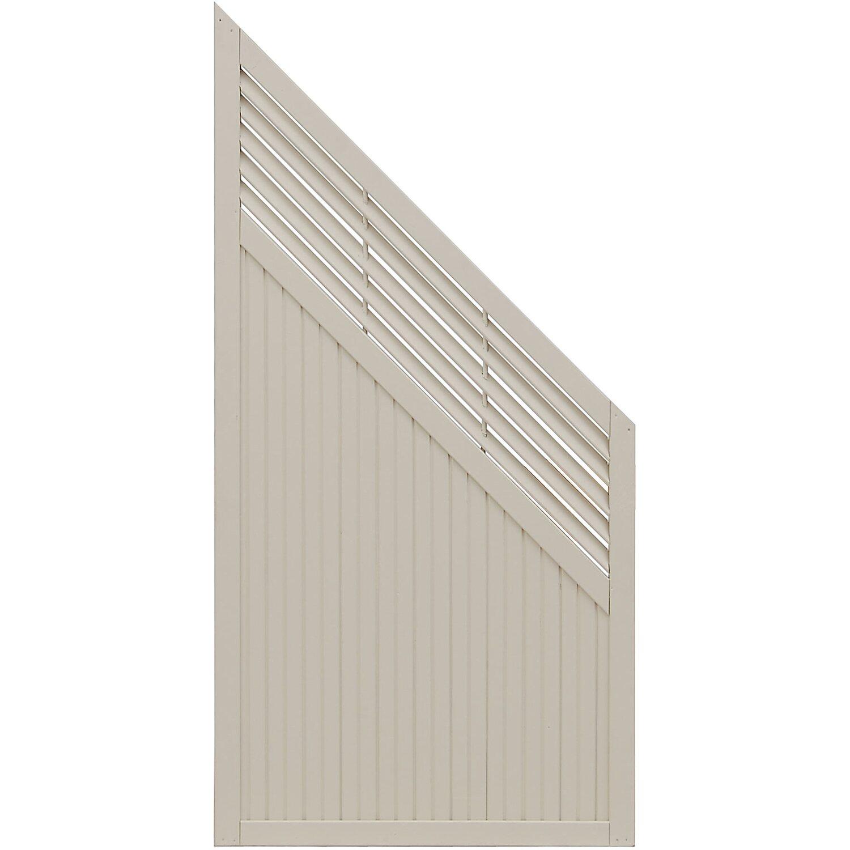 Andrewex Sichtschutzzaun Anschlusselement York Cream 180 x 90 cm auf 90 cm
