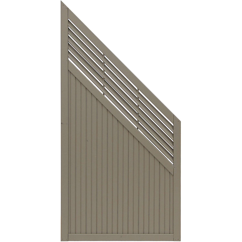 Andrewex Sichtschutzzaun Anschlusselement York Grau 180 x 90 cm auf 90 cm