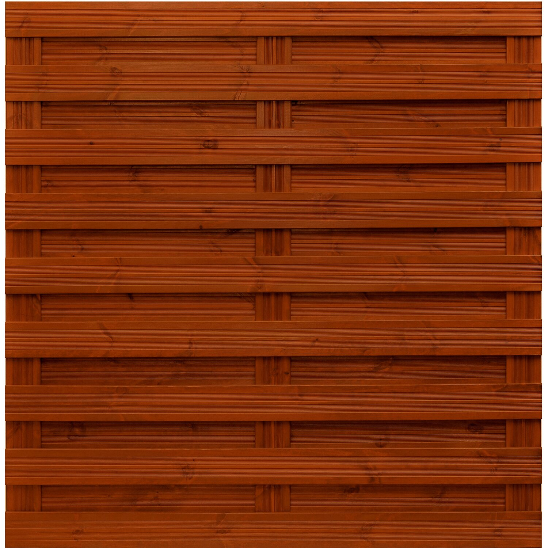 Sichtschutzzaun Element Goch Teakfarben 180 cm x 180 cm kaufen bei OBI