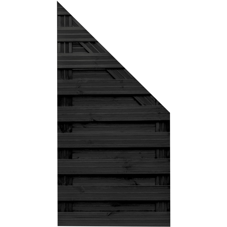 Sonstige Sichtschutzzaun Anschlusselement Goch Anthrazit 180 x 90 cm auf 90 cm