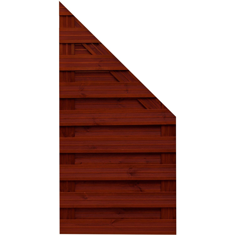 andrewex sichtschutzzaun anschlusselement goch braun lasiert 180 90 cm x 90 cm kaufen bei obi. Black Bedroom Furniture Sets. Home Design Ideas