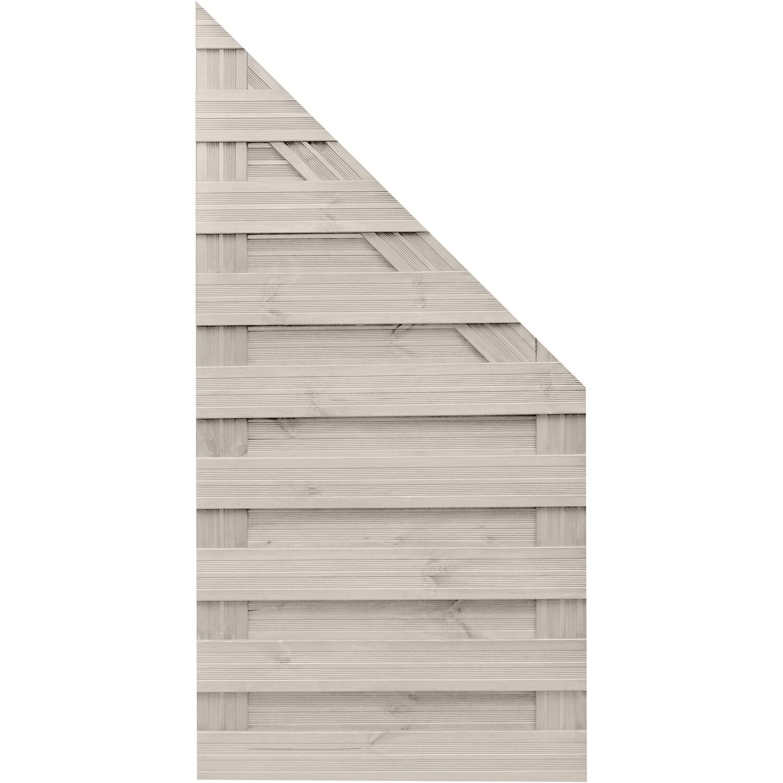 Sonstige Sichtschutzzaun Anschlusselement Goch Cream 180 x 90 cm auf 90 cm