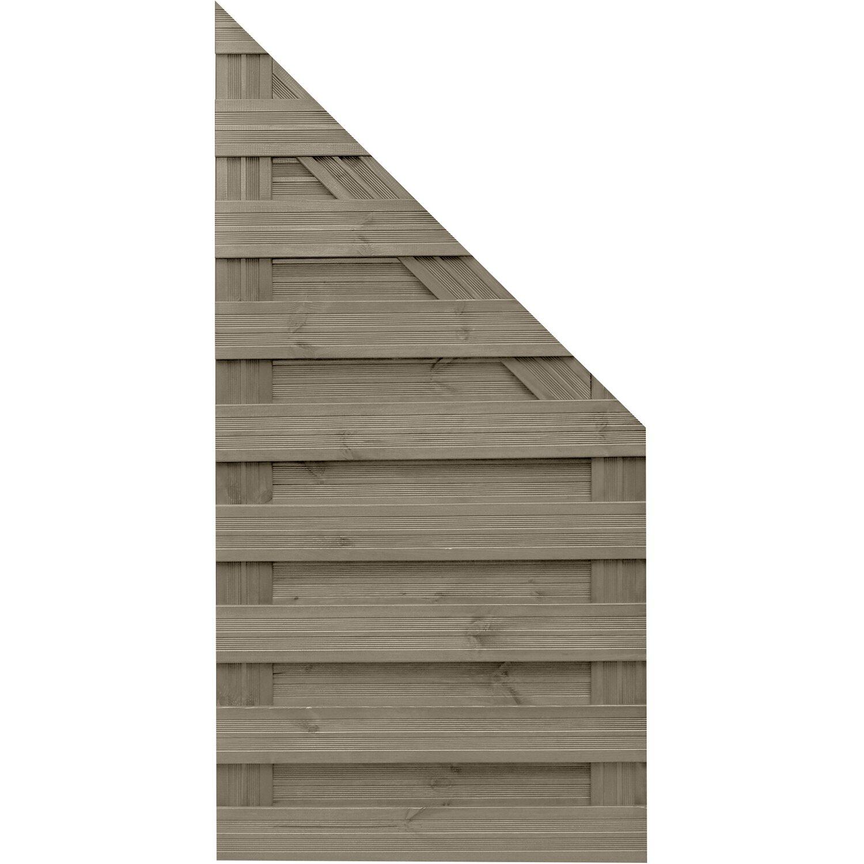 Sonstige Sichtschutzzaun Anschlusselement Goch Grau 180 x 90 cm auf 90 cm